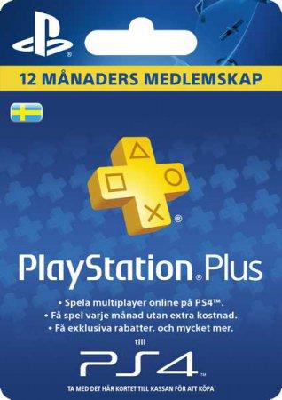 PSN Playstation Plus 12 Månader