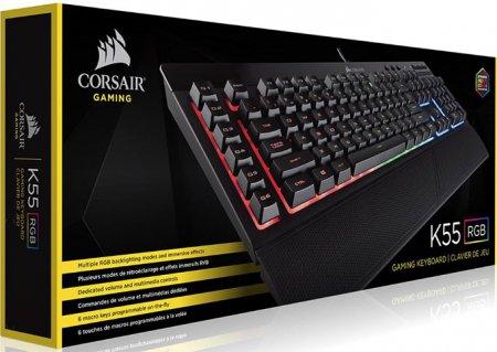 Corsair Gaming K55 RGB Gaming Keyboard (Nordisk)