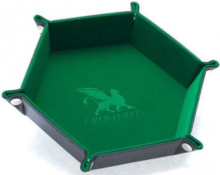Greifenfels Hexagon Dice Tray (Green)