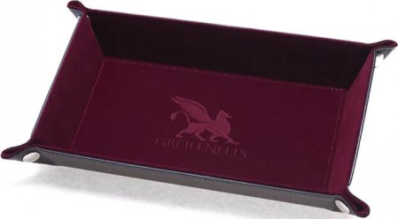 Greifenfels Rectangle Dice Tray (Burgundy)