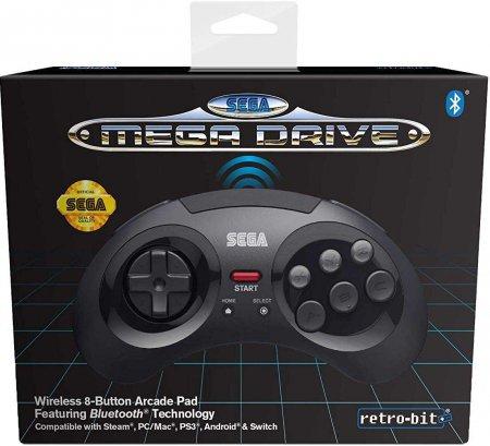 Retro-Bit Sega Mega Drive 8 Button Wireless Controller Black
