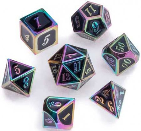 Greifenfels Rainbow Series Dice (Black)