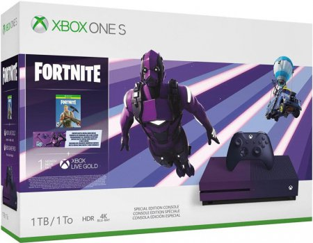 Xbox One S 1TB Special Edition Gradient Purple (inkl. Fortnite Bonus)