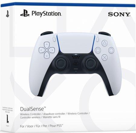 Sony Playstation 5 Trådlös DualSense Handkontroll Vit/Svart