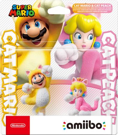 Nintendo amiibo Super Mario Collection (Cat Mario & Cat Peach)
