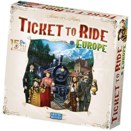 Ticket to Ride Europe 15th Anniversary Edition (Skandinavisk Version)