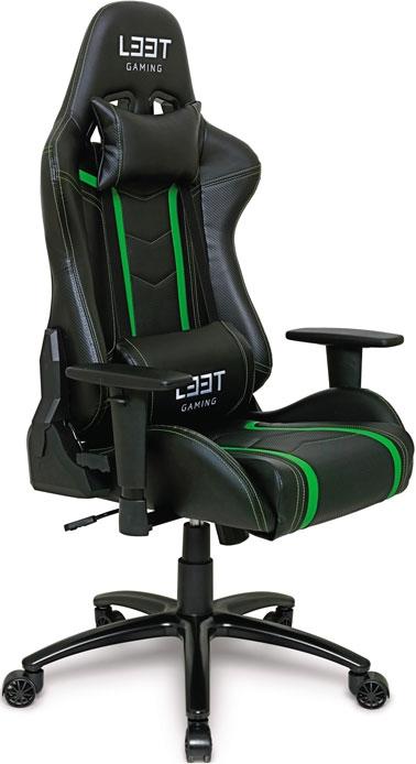 L33T Gaming Elite V3 Gaming Chair Green Spel & Sånt: TV