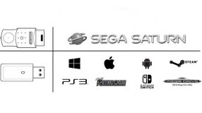 Screenshot på Retro-Bit Sega Saturn 8 Button Wireless Controller Clear Blue with Receivers